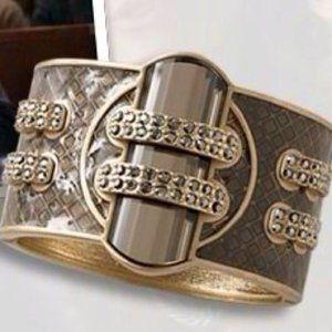 "Lia Sophia ""Ransom"" Cuff Bangle Bracelet"